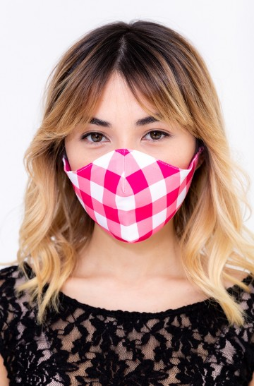 FACE MASK CHERRY GINGHAM